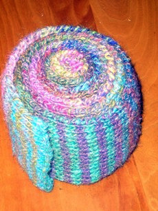 Noro Stripe Scarf rolled up