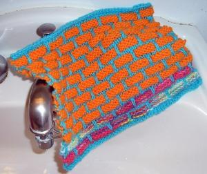 Cotton knit facecloth