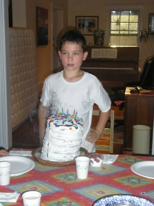 Michael & 10-layer birthday cake