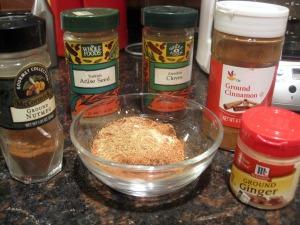 spices for St. Nicholas cookies: clove, cinnamon, cardamon, cinnamon, anise