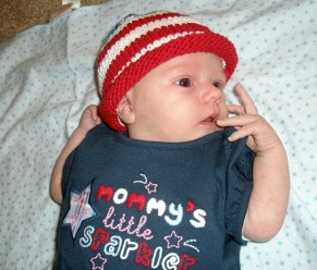 Baby flag hat