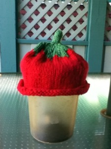 Tomato hat for baby