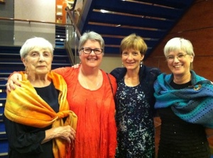 four knitters on a cruise