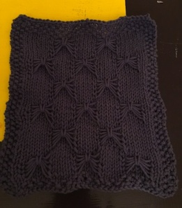 knit cotton butterfly dishcloth