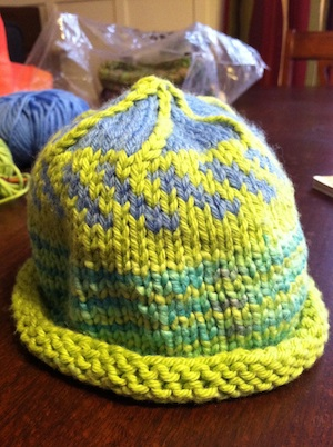 Simple Colorful Knit Baby Hat
