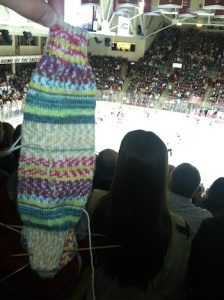 Striped_knit_sock_at_hockey_game