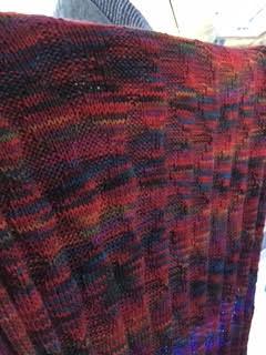 knit baby blanket variegated yarn