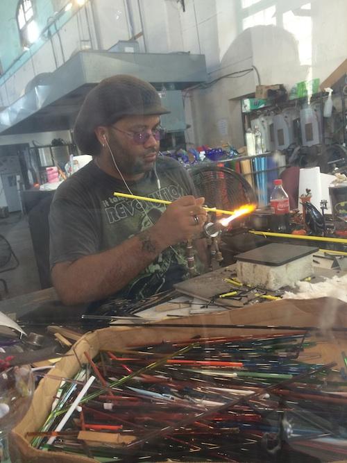 glass artist at work