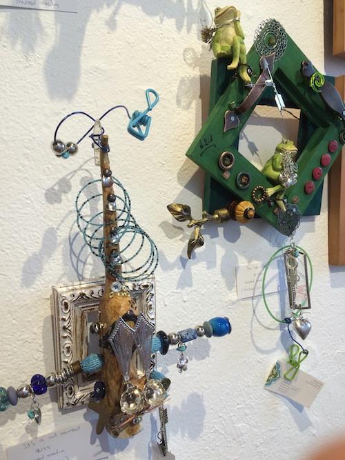 found art sculptures in gallery