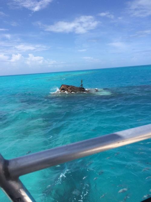 bow of shipwreck Vixen
