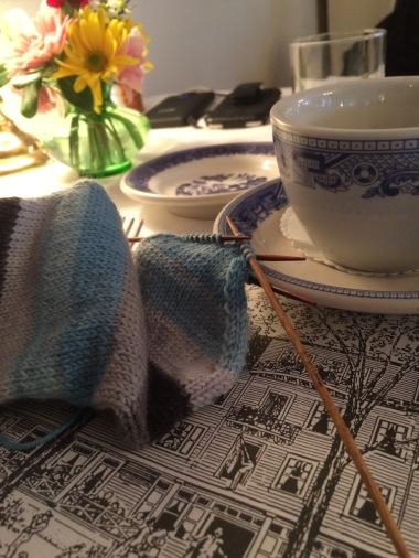 knit-sock-at-breakfast