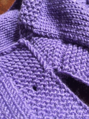 mistake in garter stitch button band