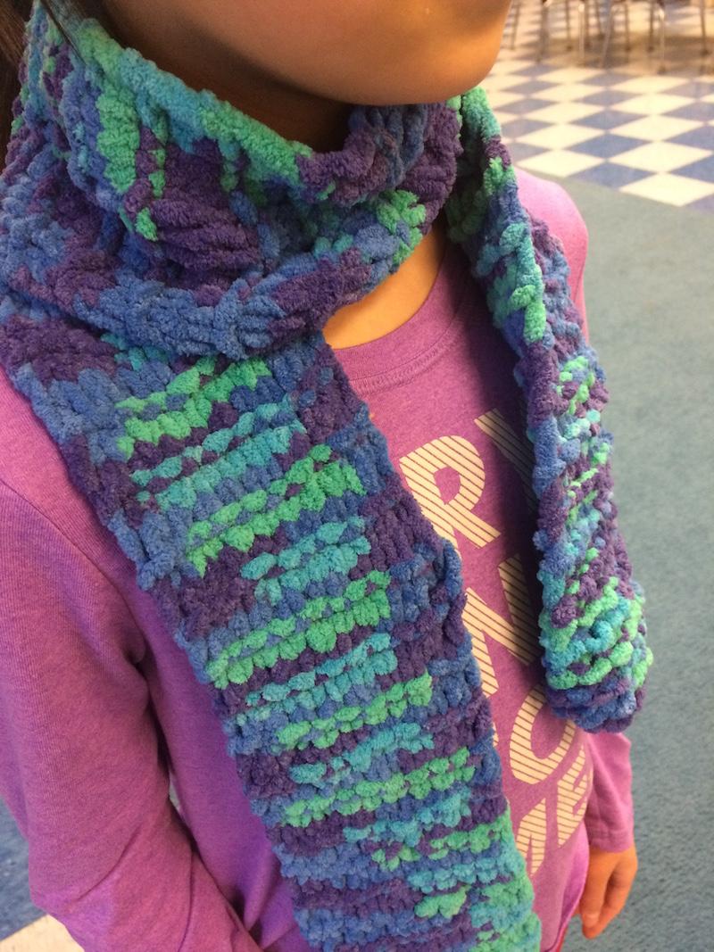 Garter-stitch-scarf