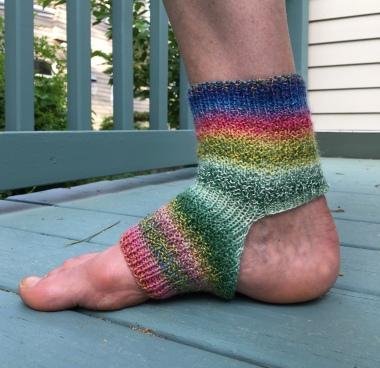 knit yoga sock